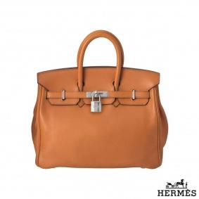 Hermes Birkin 25 cm in orange Swift leather